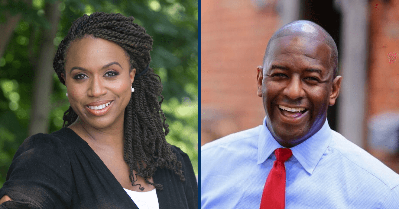 Ayanna Presley, candidate for the US House of Representatives & Andrew Gillum, candidate for the Governor of Florida