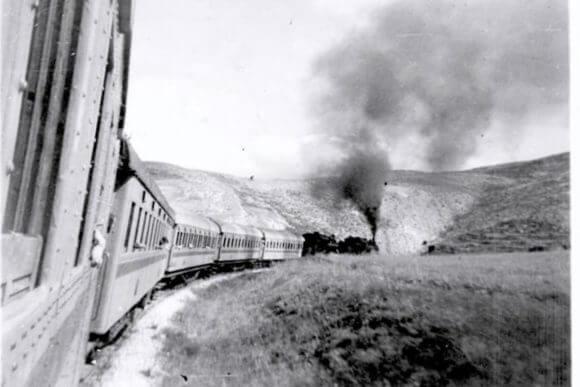 Photo taken on train to Jerusalem in 1947.