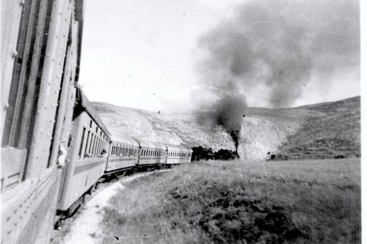 Photo taken on train to Jerusalem in 1947.