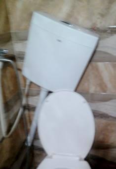 The Karamahs' damaged bathroom. Photo by Jannah Karamah, 20 Sept. 2018