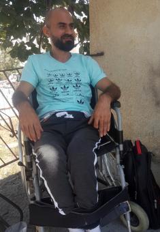 Samir Karamah. Photo: Manal al-Ja'bri, B'Tselem, 23 Sept. 2018