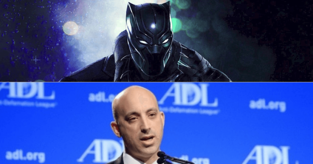 Black Panther, King of Wakanda, and Jonathan Greenblatt, CEO and National Director of the Anti-Defamation League.