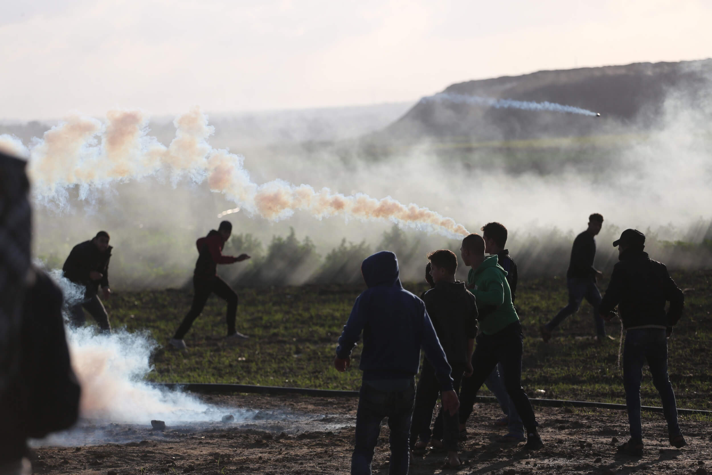 Palestinian man of 25 is shot dead during protests at Gaza