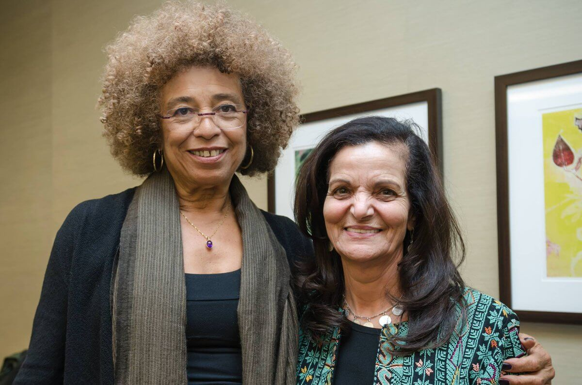 Angela Y. Davis and Rasmeh Odeh in 2015. (Photo: Twitter/@incitenews)