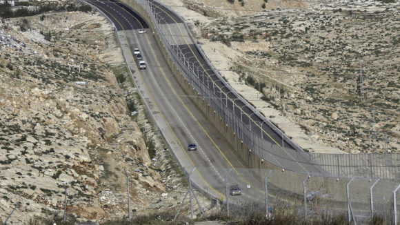 A newly opened segregated West Bank highway near Jerusalem on Jan. 10, 2019.