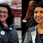 Images of Reps. Rashida Tlaib (l) and Ilhan Omar