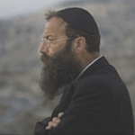 Jewish Power Party member Baruch Marzel copies pose of Zionism's founder Theodor Herzl in an undated photograph.