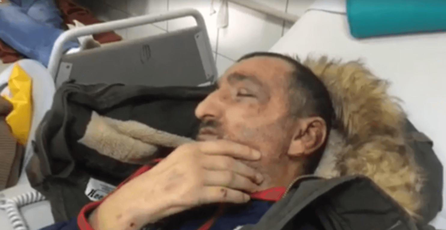 Soldiers beat a blind Palestinian man bloody in dawn raid in