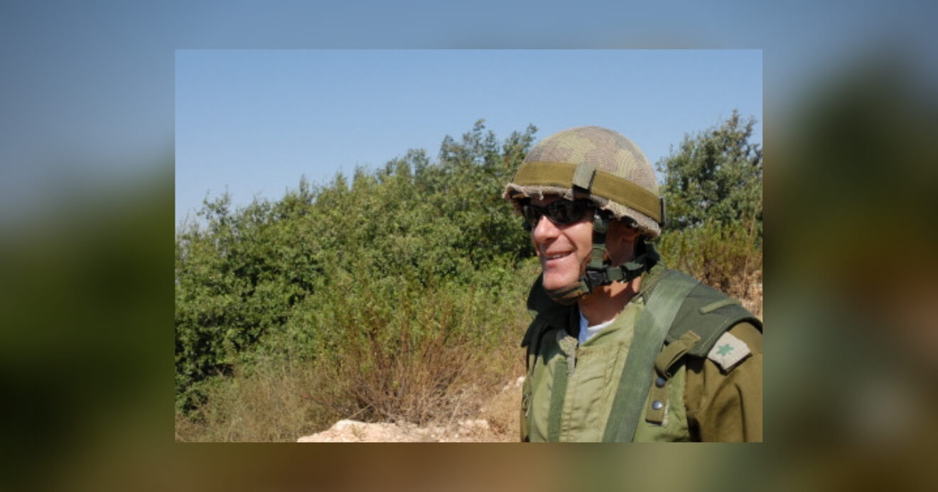 Michael Oren in uniform, northern Israel, overlooking Lebanon, 2006. Photo by Michael Totten