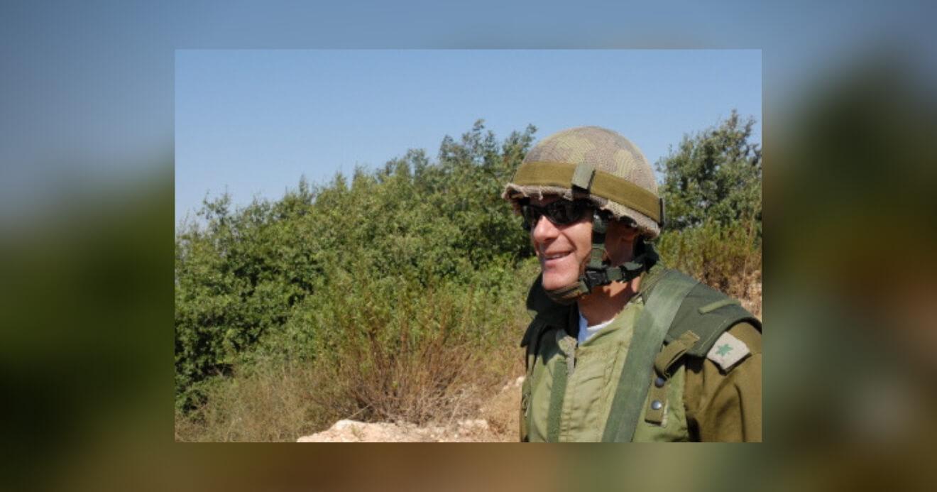 Michael Oren in uniform, northern Israel, overlooking Lebanon, 2006. Photo by Michael Totten