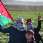 Palestinian protesters at the Great March of Return in Jabalia in the northern Gaza Strip, March 08, 2019.