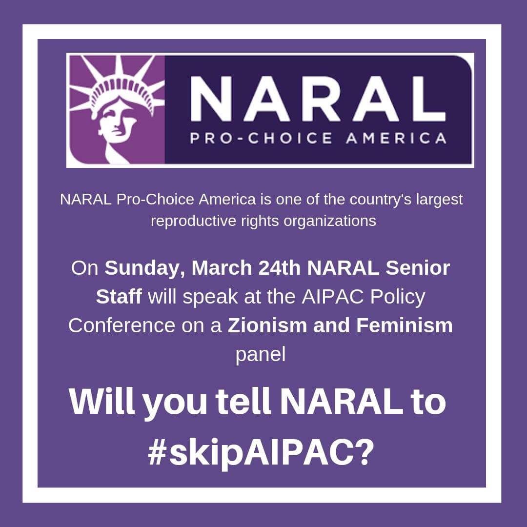 Tell NARAL to #skipAIPAC