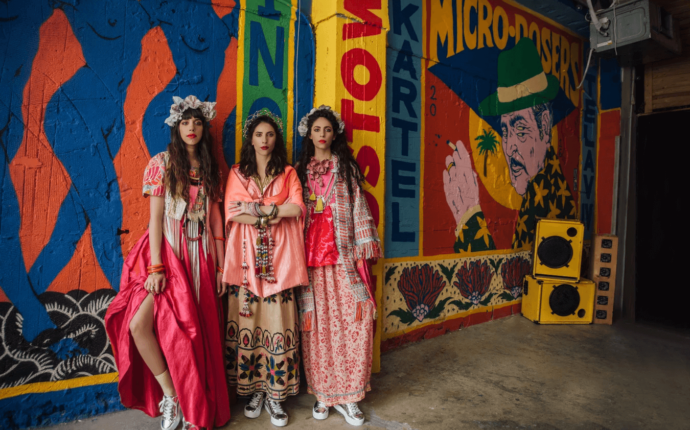 Yemenite-Israeli members of the music group A-WA in a shoot for Signon Magazine. (Photo: Rotem Lebel/Signon Magazine/a-wamusic.com)