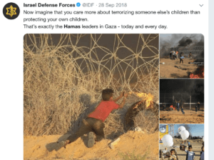 Israeli military blames Hamas for putting children at risk during the Great March of Return