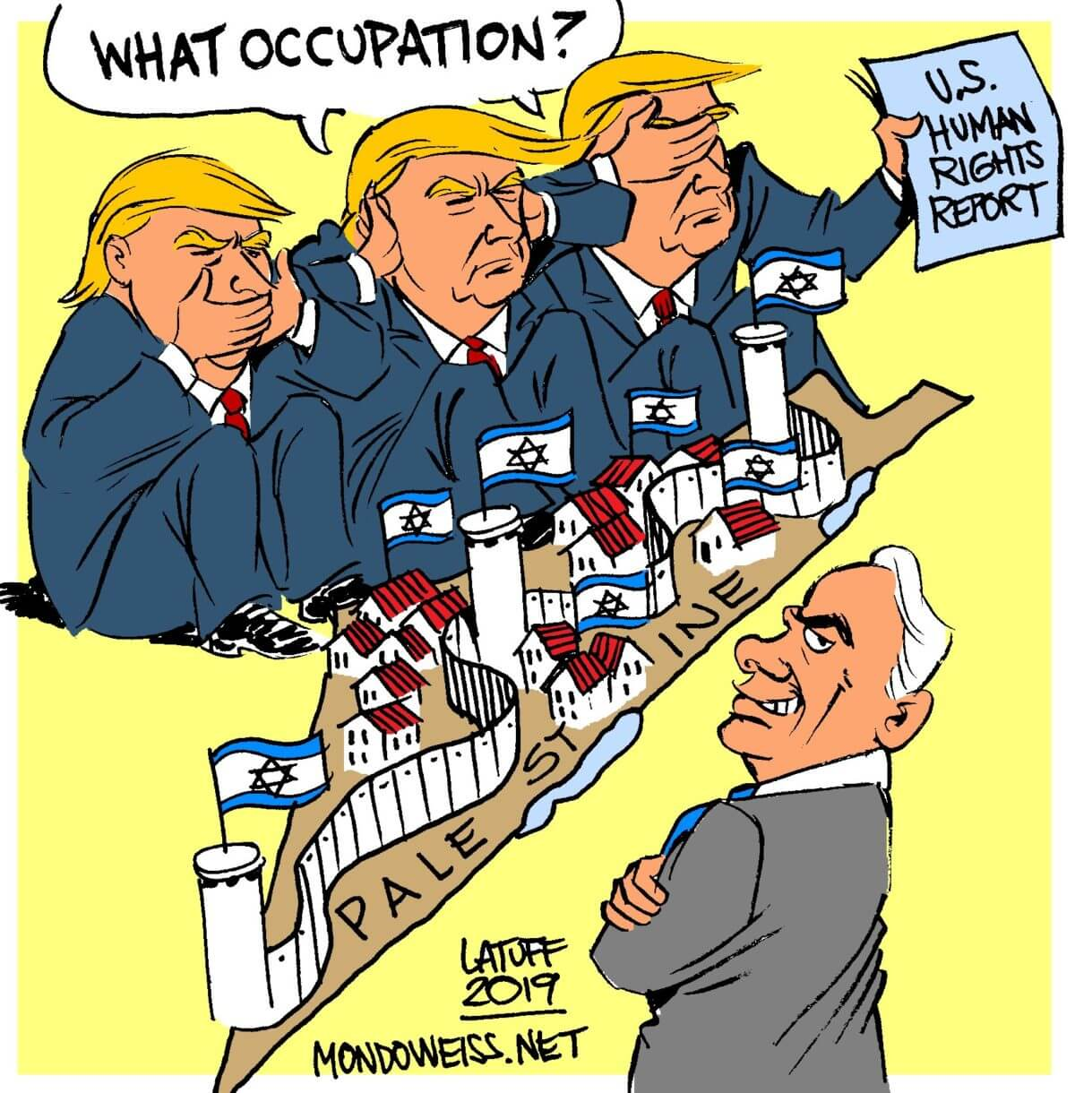 US human rights report occupation Israel Palestine