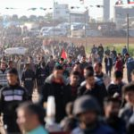 Demonstrators headed to the Gaza fence, March 22, 2019. (Photo: Mohammed Asad)