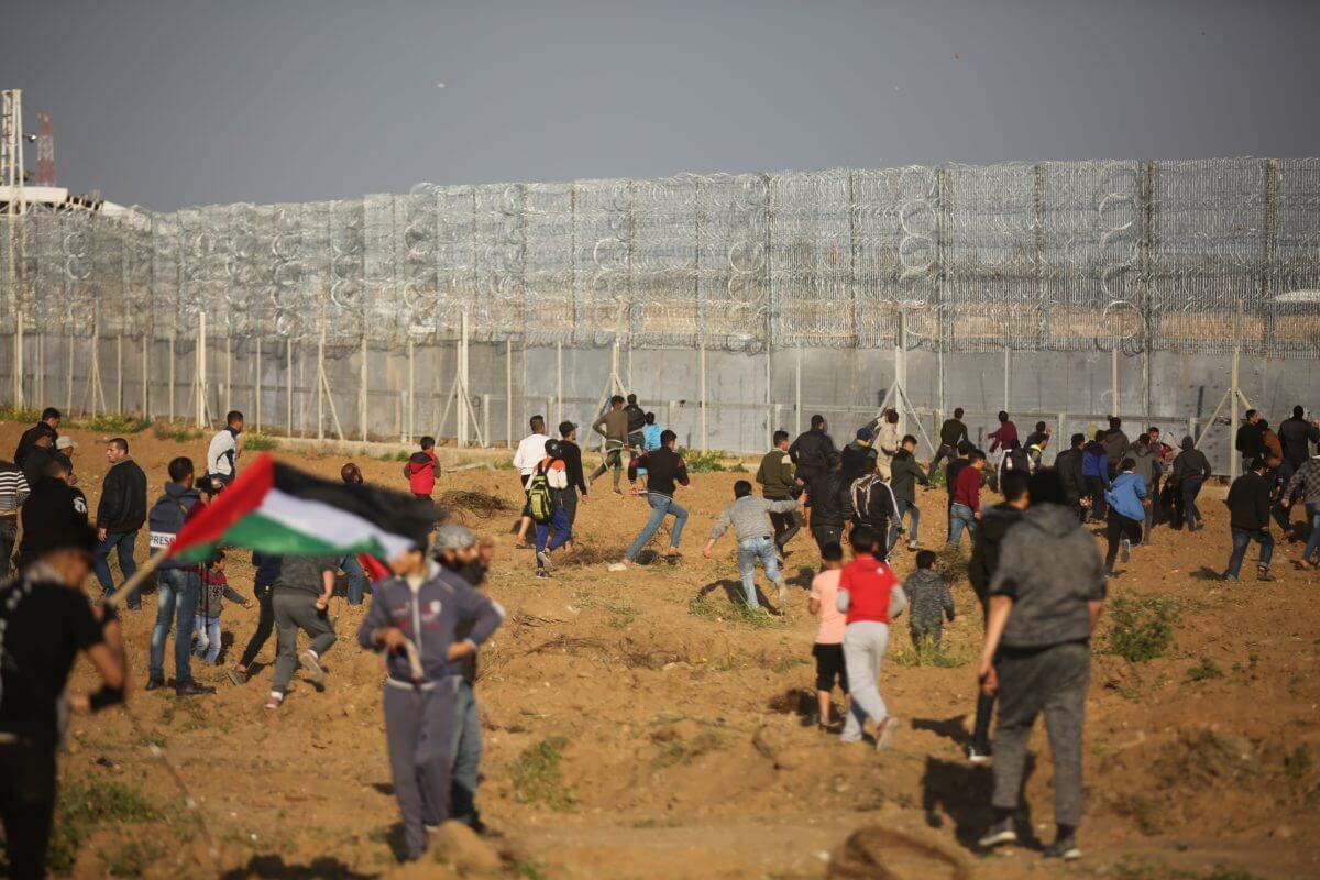 Barbed wire has been added to the Gaza fence in anticipation of the one year anniversary of the Great March of Return