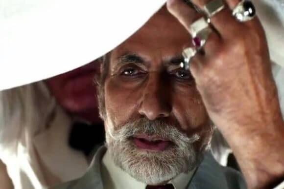 Amitabh Bachchan as Meyer Wolfsheim in the 2013 movie version.