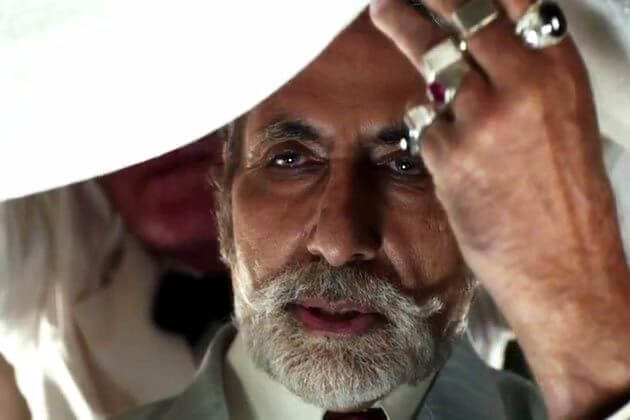 Amitabh Bachchan as Meyer Wolfsheim in the 2013 movie version.