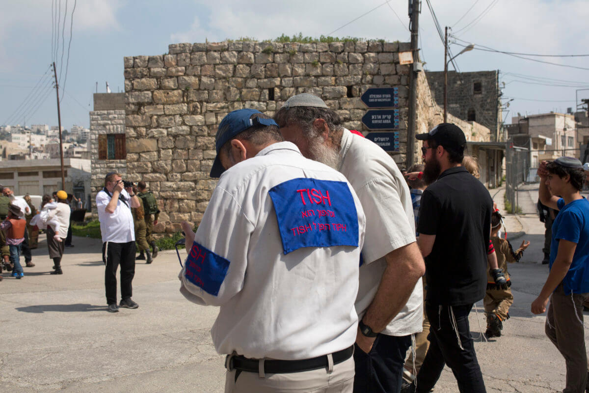 Israeli settler dressed up as a member of the international human rights observer group TIPH