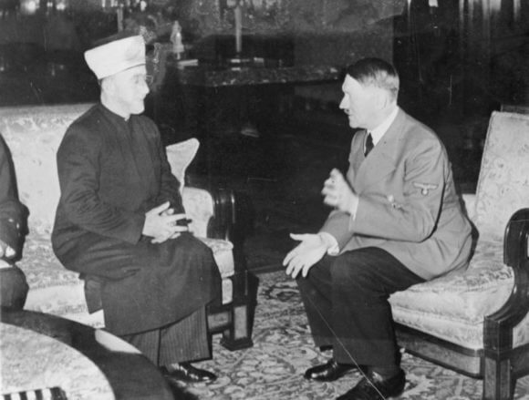 The mufti of Jerusalem, Sayid Amin al Husseini, meets with Hitler, November 1941.