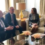 Nancy Pelosi meets with three former UK Labour MP's who left the party over Israel and alleged anti-Semitism. April 14, 2019. From Twitter.