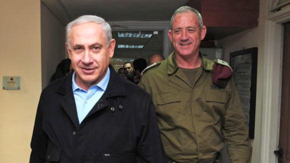 Prime Minister Benjamin Netanyahu and Benny Gantz