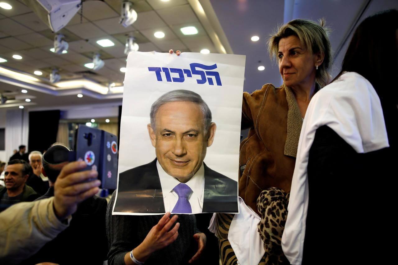 Launch party for Benjamin Netanyahu's Likud party campaign, Ramat Gan, Israel, March 4, 2019. (Photo: Amir Cohen/Reuters)