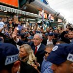 Israeli Prime Minister Benjamin Netanyahu and his wife Sara Netanyahu campaigning in Tel Aviv, April 2, 2019. (Photo: Tomer Appelbaum/Reuters)