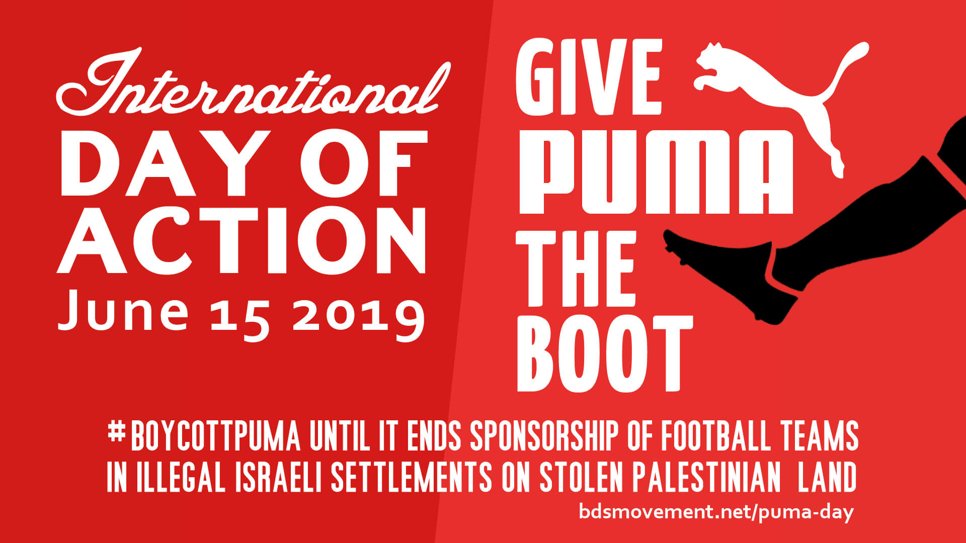 Logo for the International Day of Action against Puma