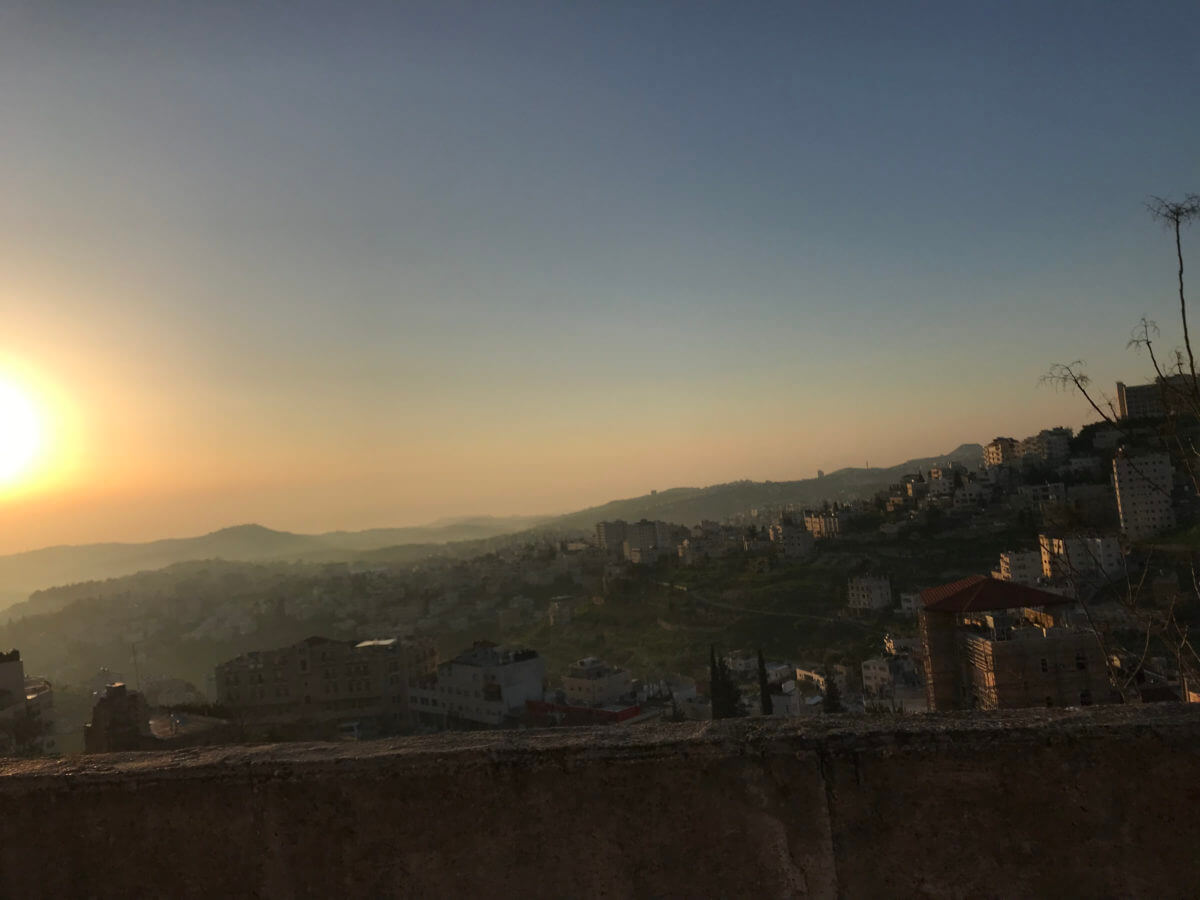 Sunrise over Beit Sahour during the 2019 Palestine Marathon.