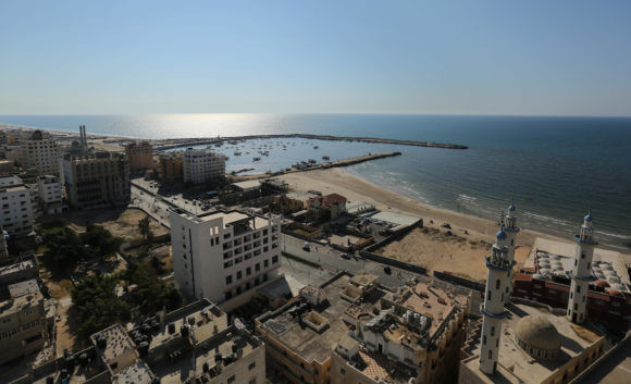 The Gaza seaport, Gaza City, March 26, 2017. (Photo: Ashraf Amra/APA Images)