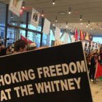 Protest at the Whitney Museum of American Art. (Photo: Kim Jensen)