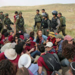 Israeli forces surround international Jewish activist who refused to evacuate the area, May 03, 2019.