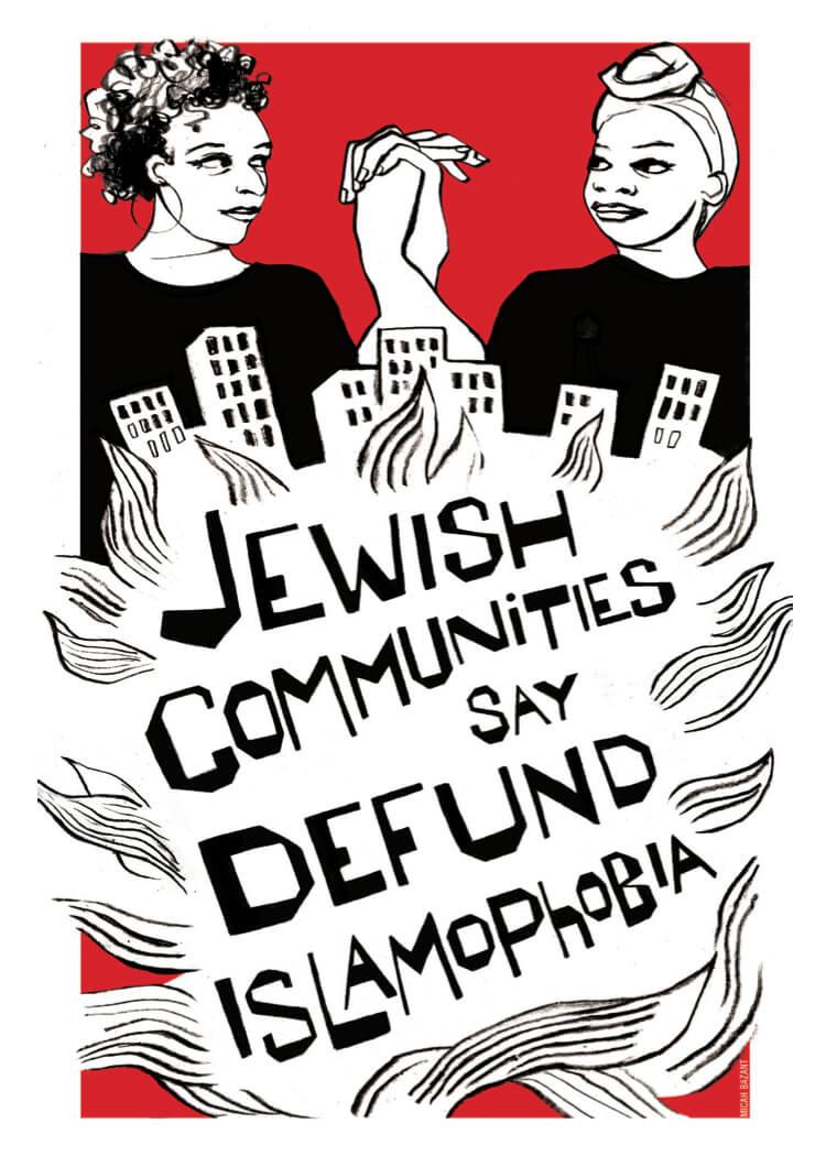Muslim-Jewish Collaboration postcard. (Photo: Defund Islamophobia)