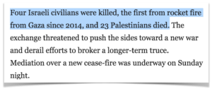 Anti-Palestinian bias in the Washington Post. Israelis are killed, but Palestinians just die.
