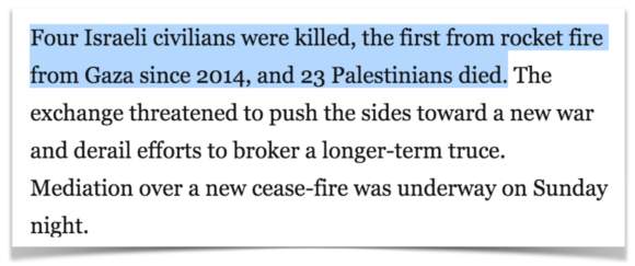 Anti-Palestinian bias in the Washington Post. Israelis are killed, but Palestinians just die.