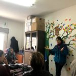 Alice Rothchild gives a training on women's health issues. Photo by S. Komarovsky.