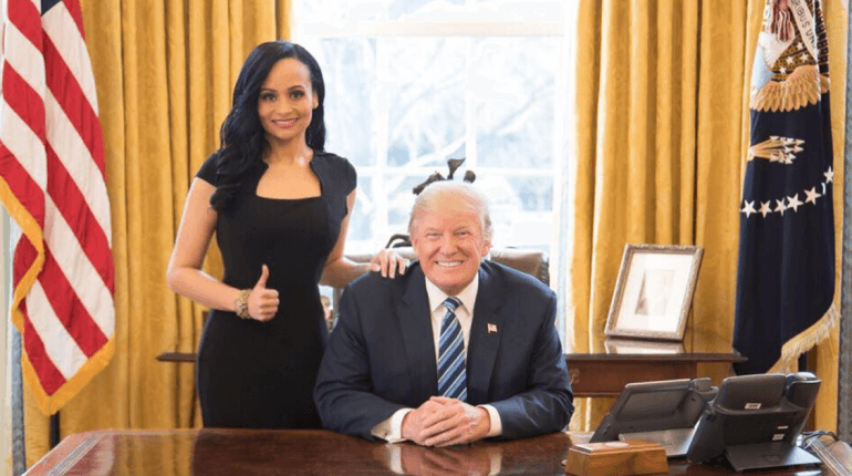 Senior advisor to the Trump 2020 campaign Katrina Pierson with President Donald Trump. (Photo: Facebook)