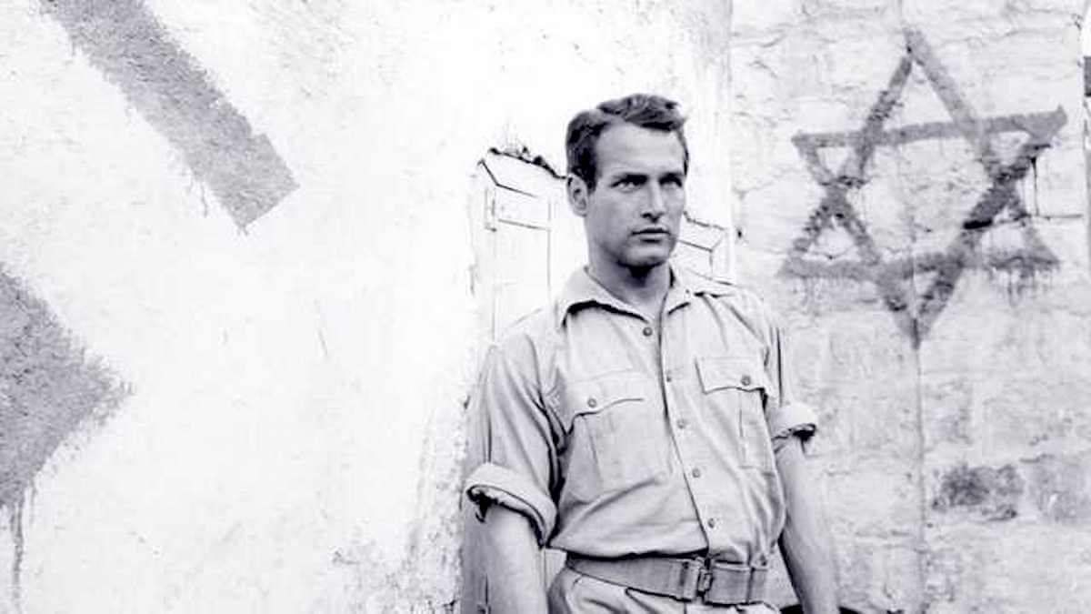 "Paul Newman in Otto Preminger's 1960 film ""Exodus"""