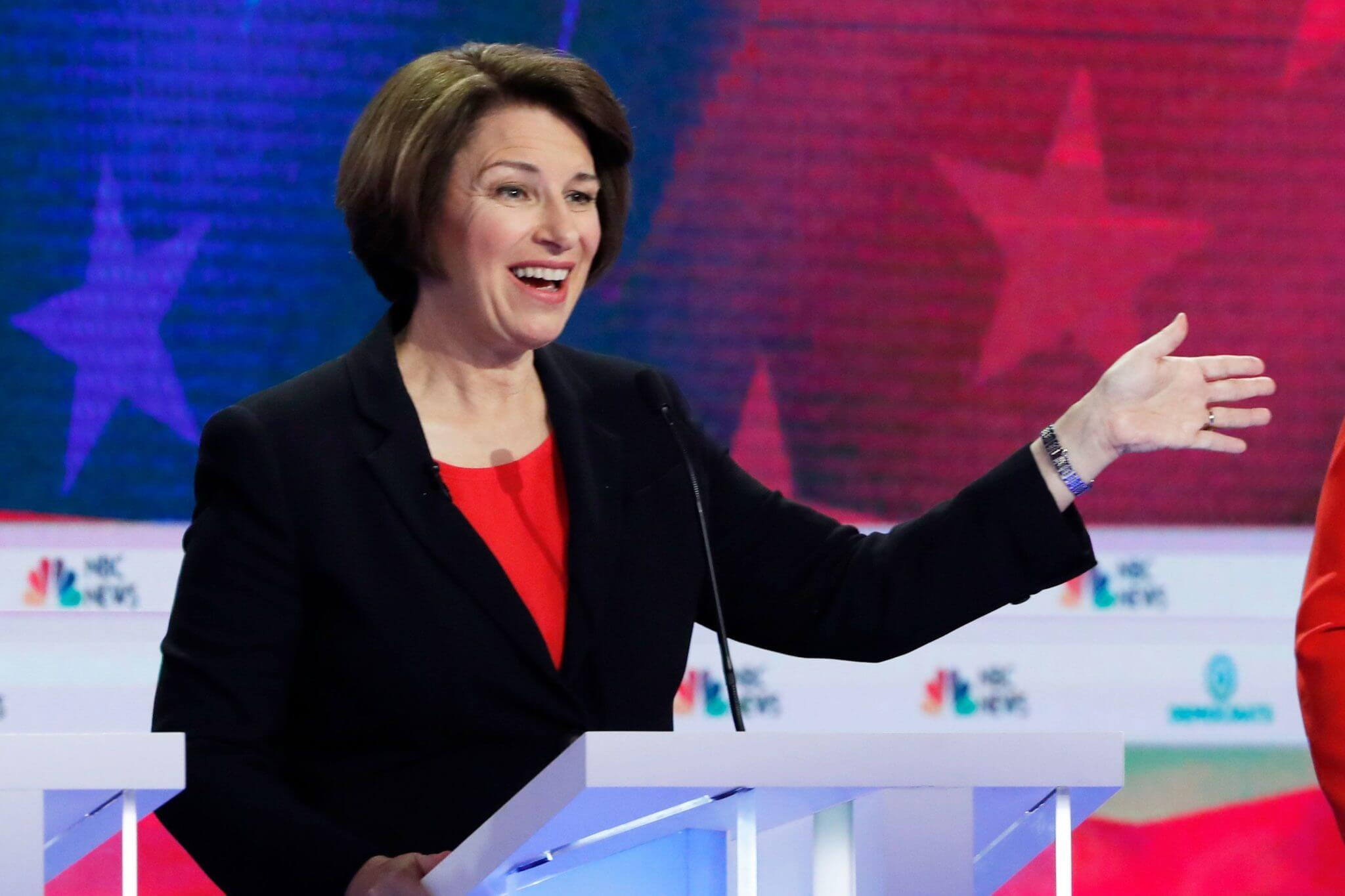 Amy Klobuchar at Dem debate, June 26, 2019. Joe Raedle/Getty Images
