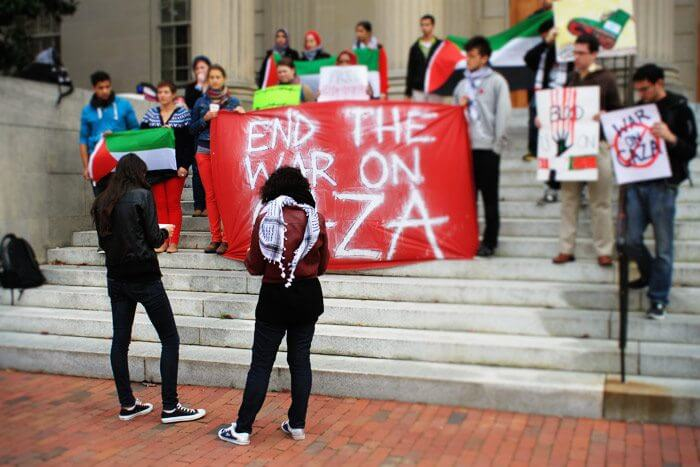 UNC-Chapel Hill Students for Justice in Palestine, December 24, 2012. (Photo: Facebook)