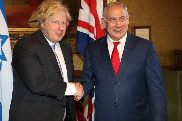Foreign Secretary Boris Johnson meeting Benjamin Netanyahu, Prime Minister of Israel in London, 6 June 2018.