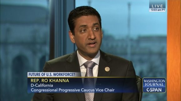 Rep. Ro Khanna is Vice Chair of the Congressional Progressive Caucus and is co-sponsoring House Resolution 246 attacking the BDS movement.