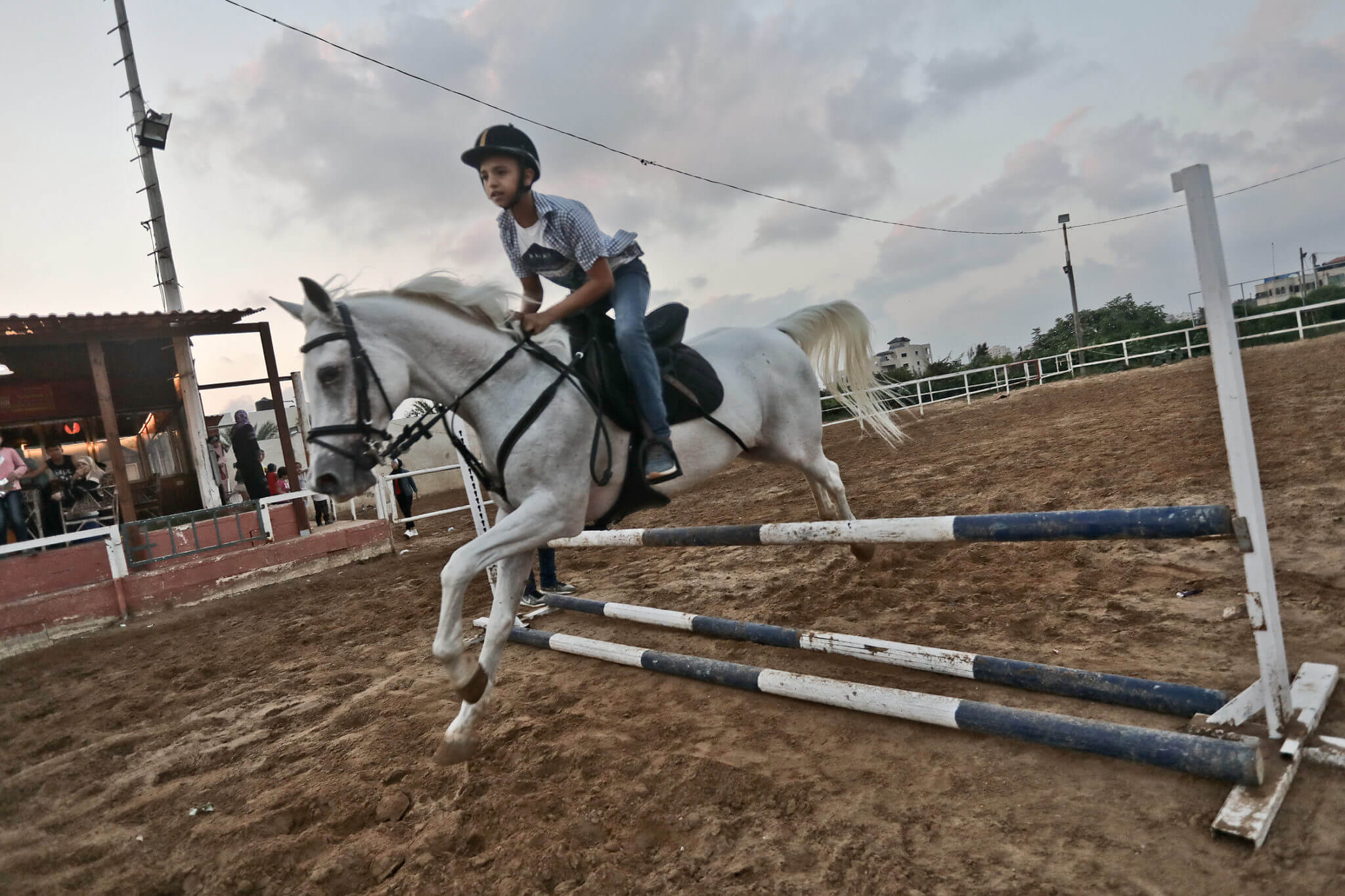 An equestrian competition in Gaza city