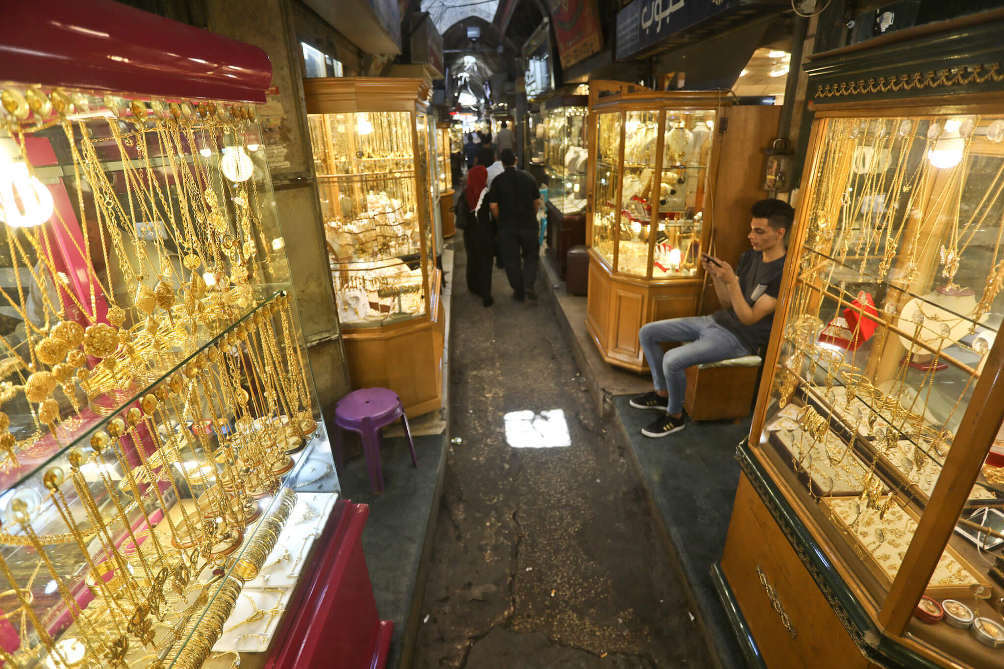 The gold market is all that remains of what was once a large covered market filled with tradesman specializing in different crafts.