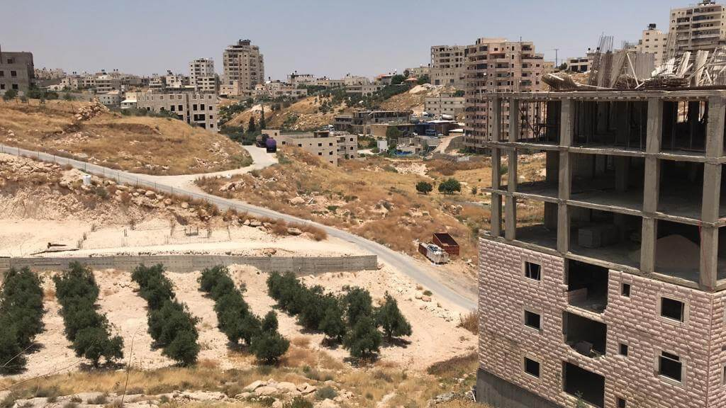 The Wadi al-Hummus area of Sur Bahir, East Jerusalem (Photo: Saleh Zghari)