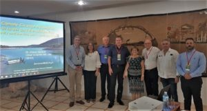 Doron Markel, left, with members of Cuba's Jewish community and KKL-JNF leaders, in Havana, Cuba, July 2019.