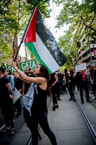 Olivia Katbi Smith is a leading activist for Palestine in Portland, Oregon. Photo: Bette Lee.