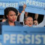 Ayanna Pressley at a rally for Elizabeth Warren in Cambridge, MA (Photo: Flickr)